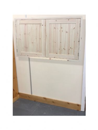 Pine Traditional Style 2 Door Kitchen Wall Unit 1000mm wide